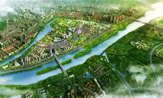 15平方公里,加之上千亩湿地公园,近千亩环岛绿地和东坡湖千余亩水域等